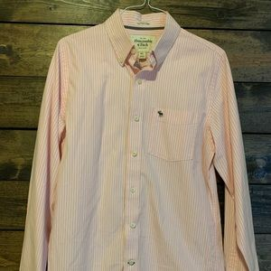 Abercrombie button up long sleeve striped shirt